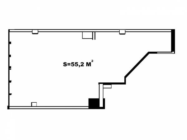 Планировки однокомнатных квартир 55.2 м^2